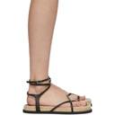 3.1 Phillip Lim Black Yasmine Strappy Espadrille Sandals