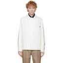 Dunhill White Cotton Silk Gabardine Work Jacket