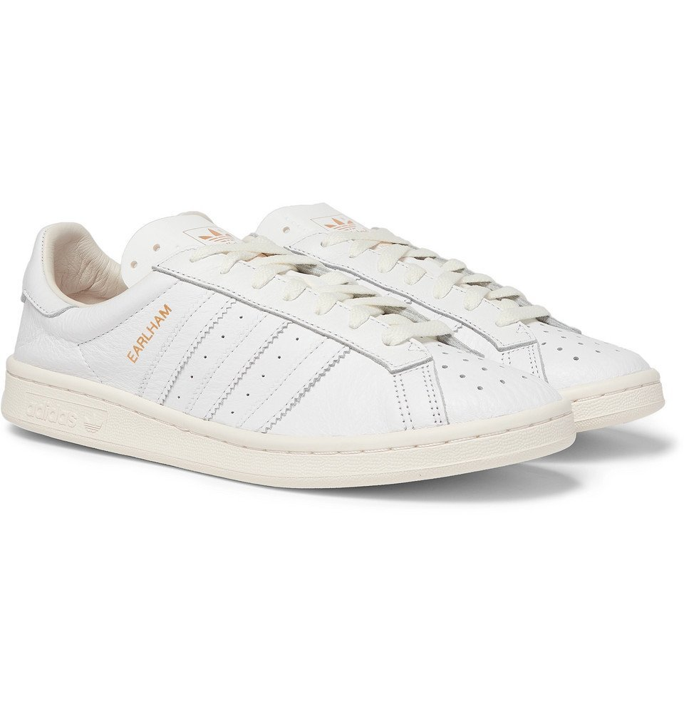 Photo: adidas Consortium - SPEZIAL Earlham Textured-Leather Sneakers - White