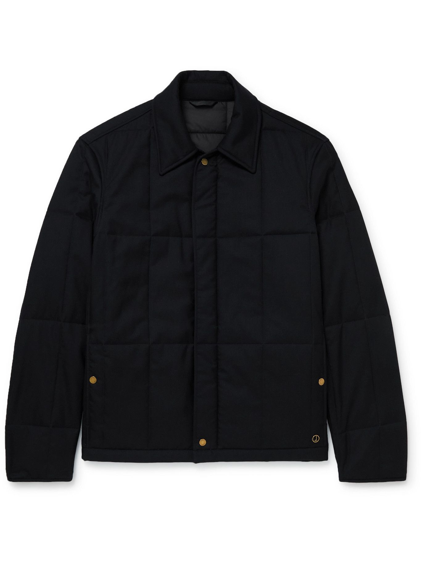 Photo: Dunhill - Padded Quilted Cashmere Jacket - Blue
