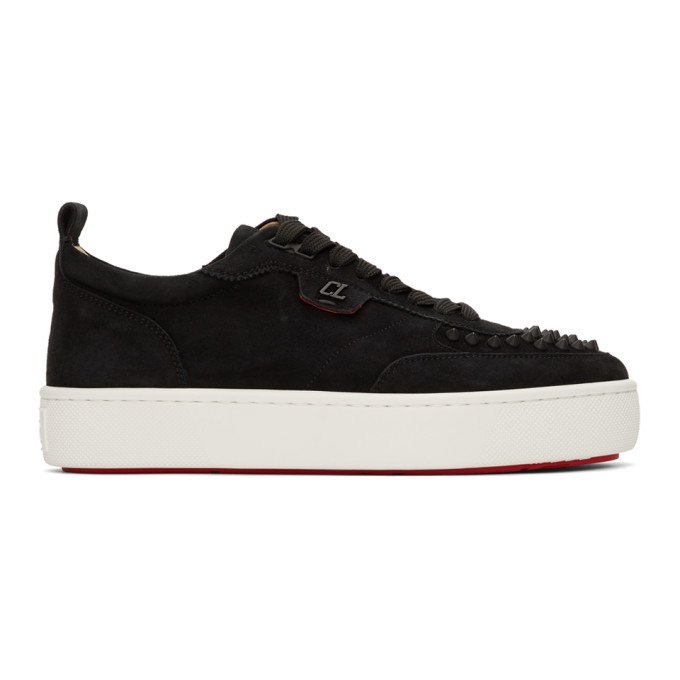 Photo: Christian Louboutin Black Suede Happyrui Sneakers