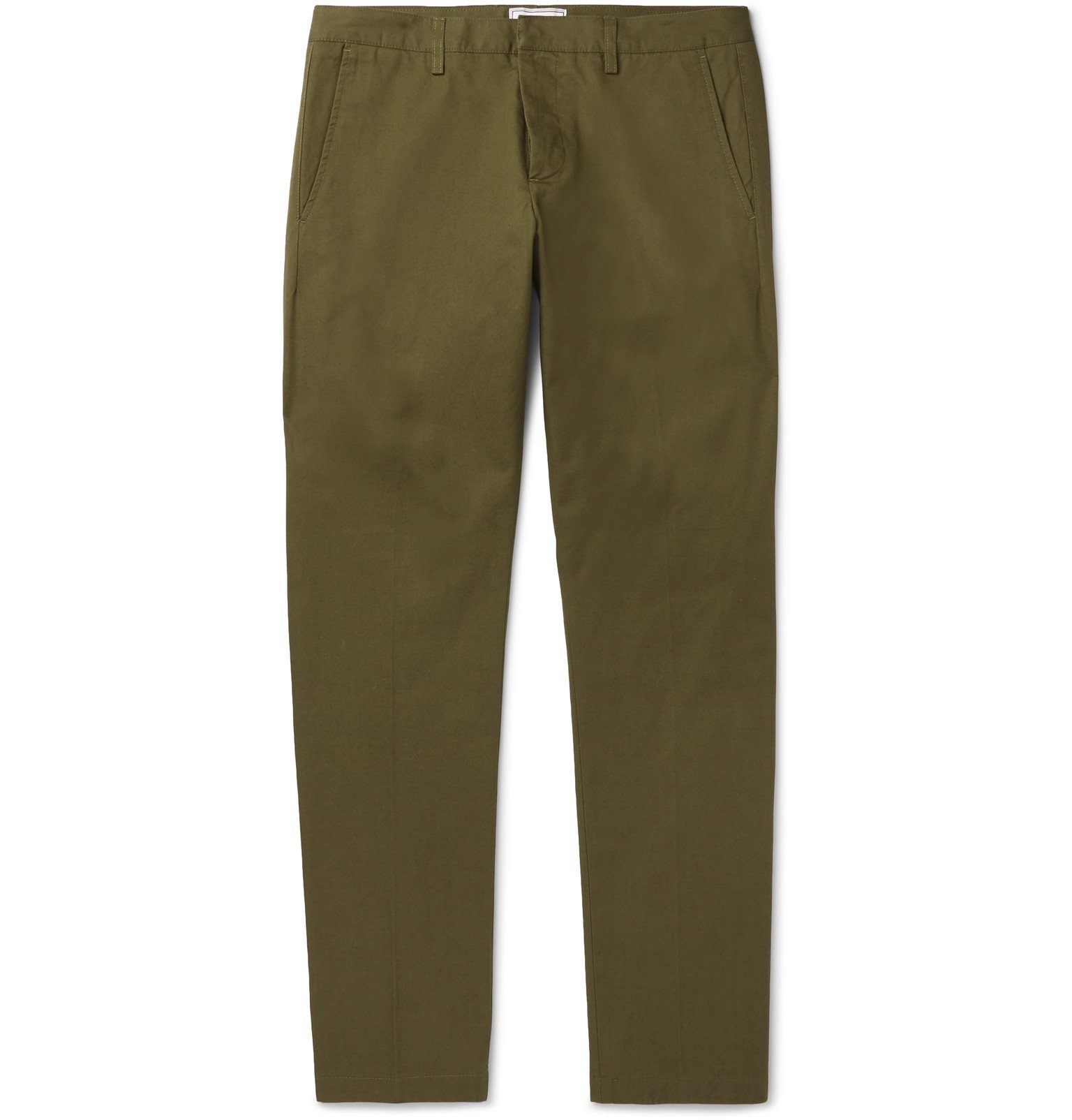 Photo: AMI - Slim-Fit Cotton-Twill Chinos - Green
