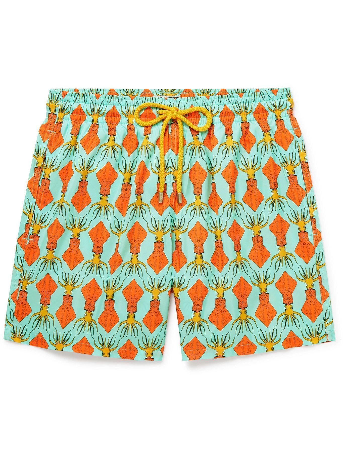 Photo: Vilebrequin - Mahina Printed Mid-Length Swim Shorts - Blue