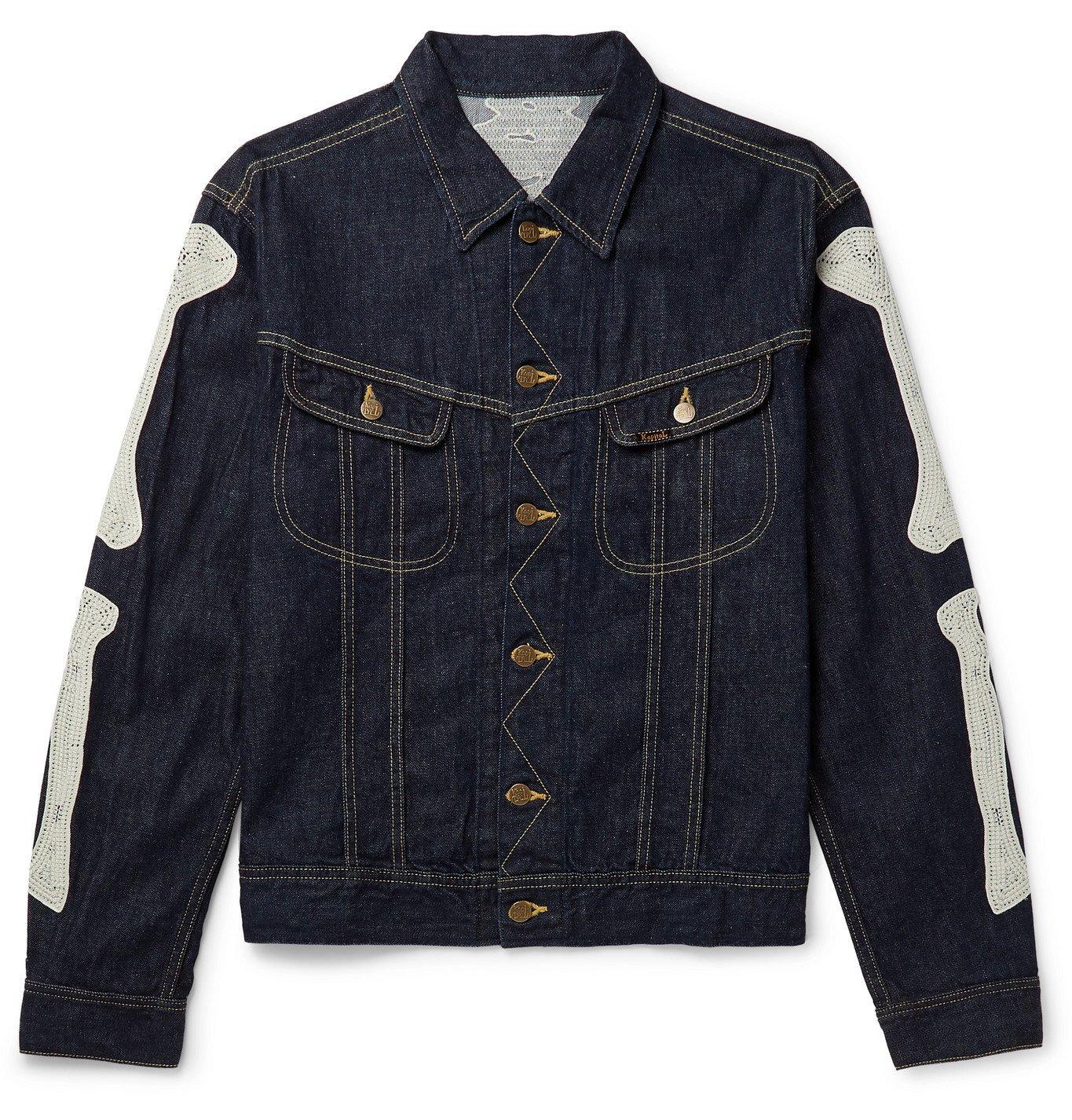 KAPITAL - Appliquéd Denim Jacket - Blue