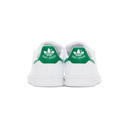 adidas Originals White and Green Velcro Stan Smith Sneakers