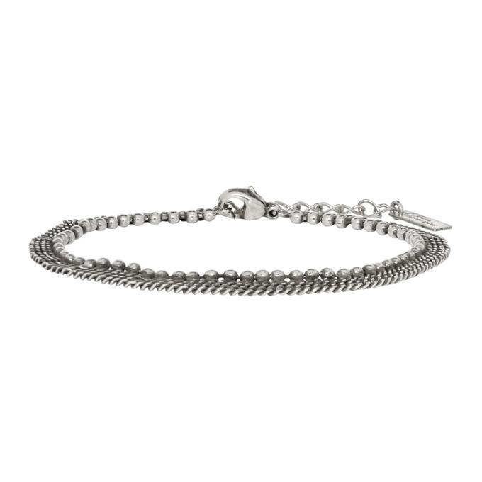 Photo: Saint Laurent Silver Three-Row Bracelet