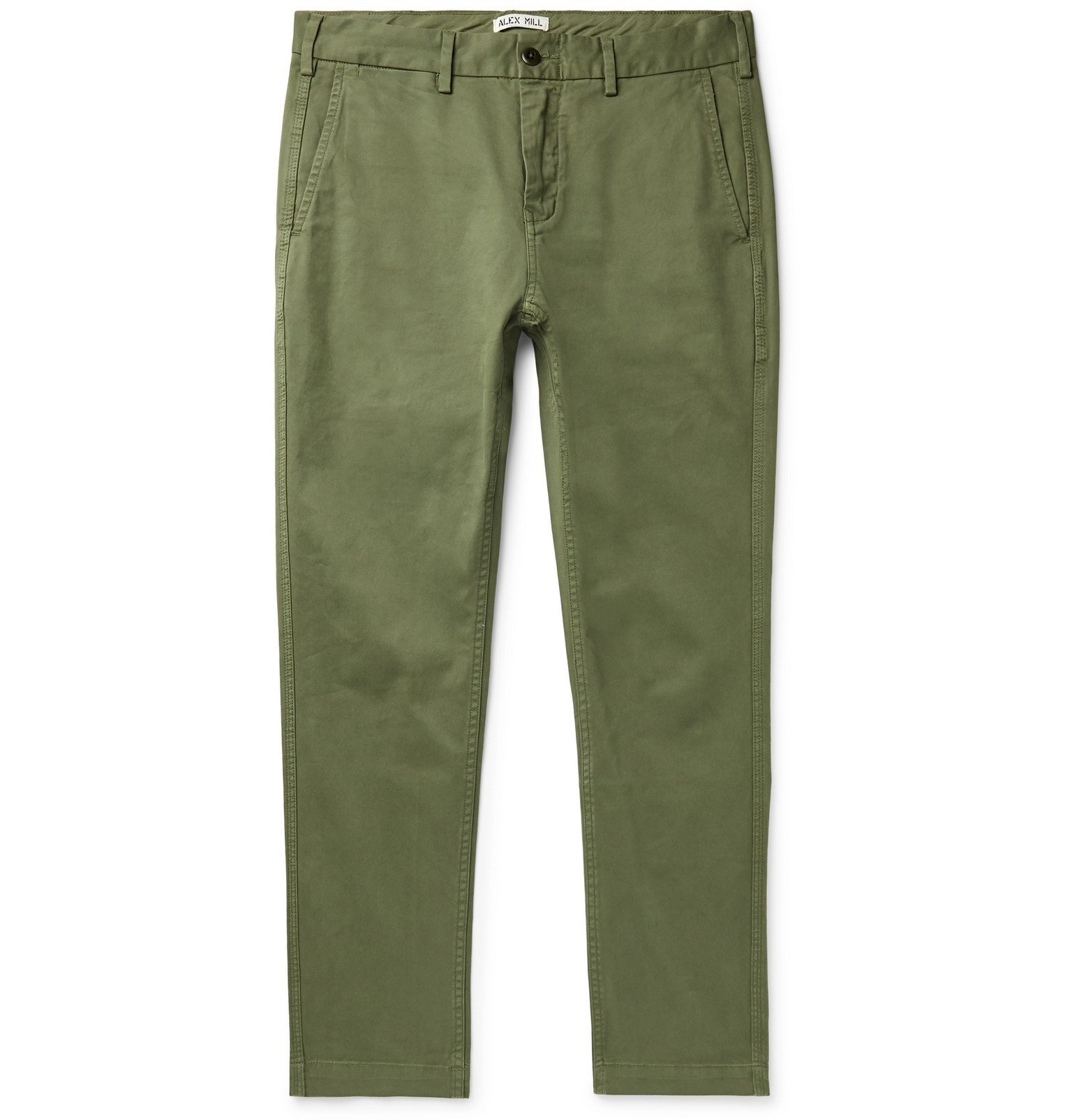 Photo: Alex Mill - Slim-Fit Cotton-Blend Twill Chinos - Green