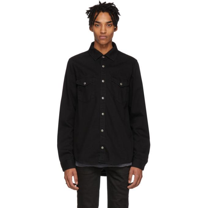 Ksubi Black De Nimes Blackmail Shirt