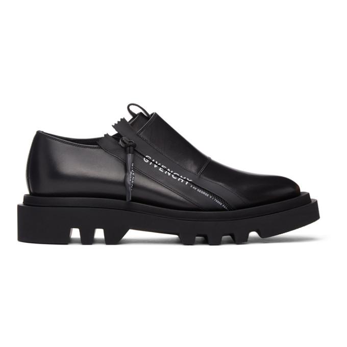 Photo: Givenchy Black Combat Zipped Derbys
