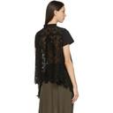 Sacai Black Star Lace Drape T-Shirt