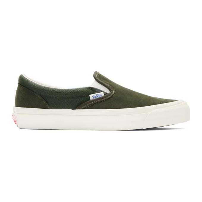 Photo: Vans Green OG Classic Slip-On Sneakers