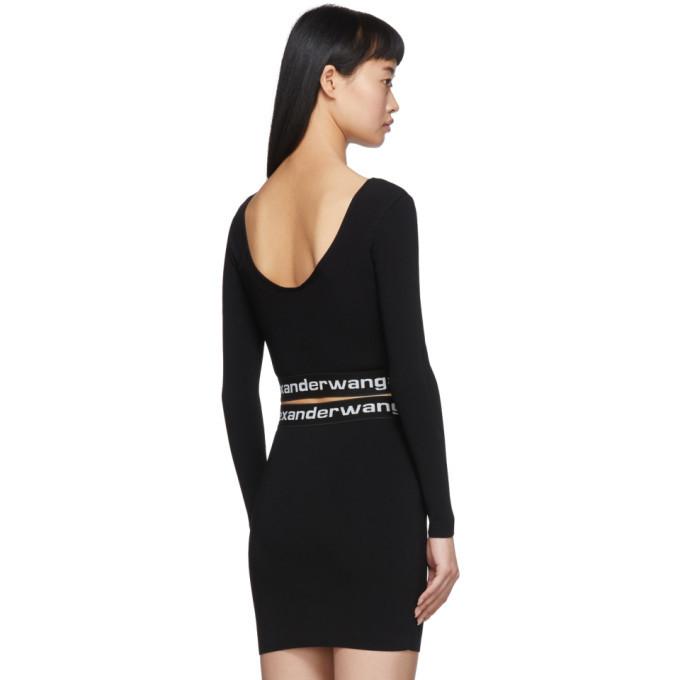 alexanderwang.t Black Bodycon Long Sleeve T-Shirt