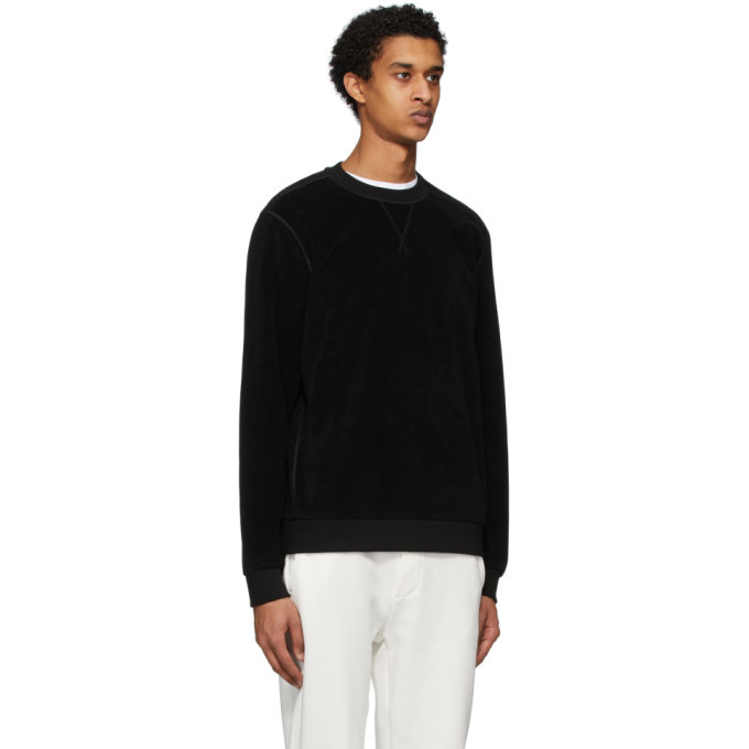 Moncler Black Cotton Sweatshirt