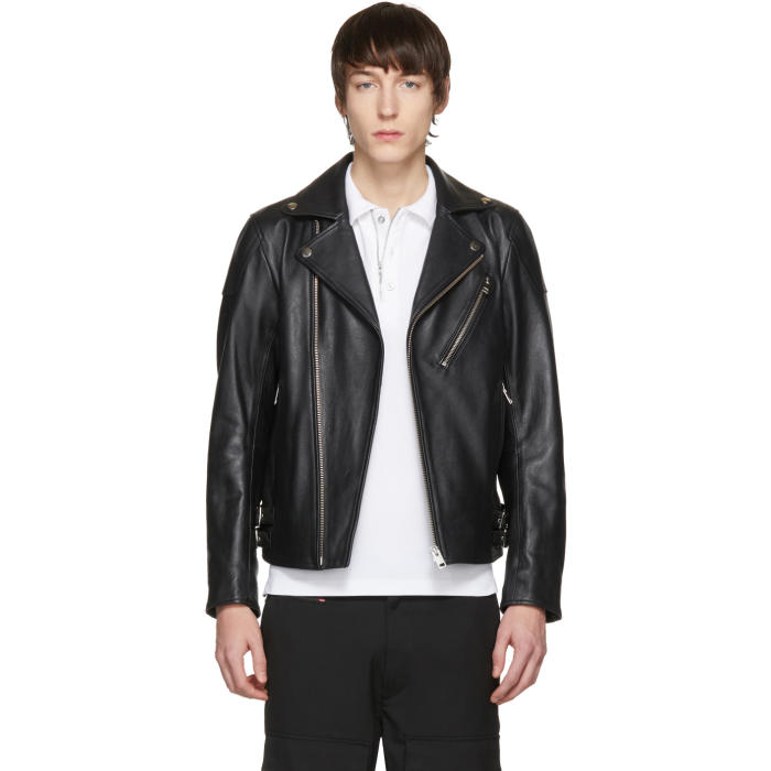 Photo: Diesel Black Leather L-Kramps Biker Jacket