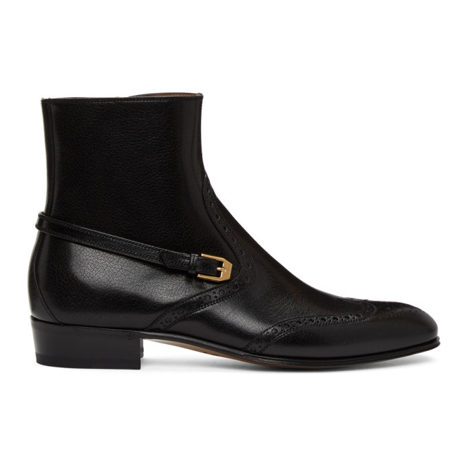 Photo: Gucci Black Brogue Boots