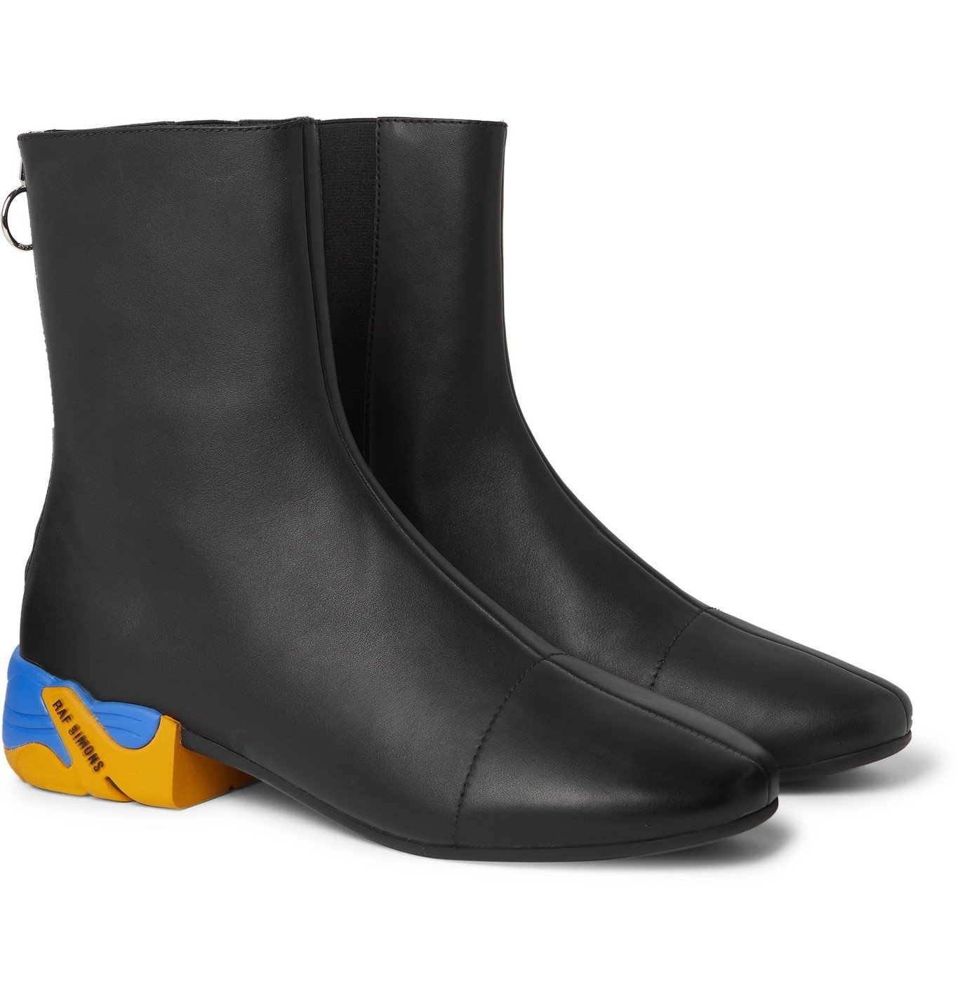 Photo: Raf Simons - Solaris-2 Leather Chelsea Boots - Black