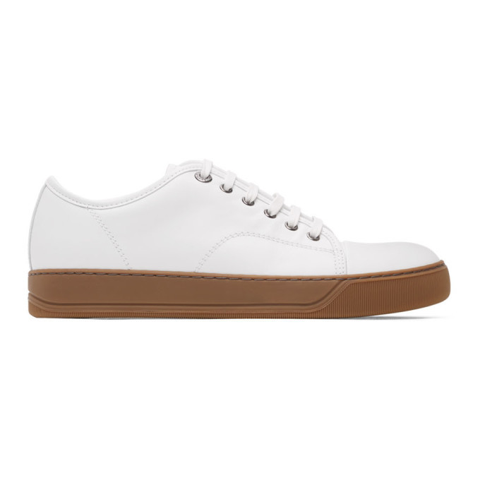 Photo: Lanvin White Leather DBB1 Sneakers