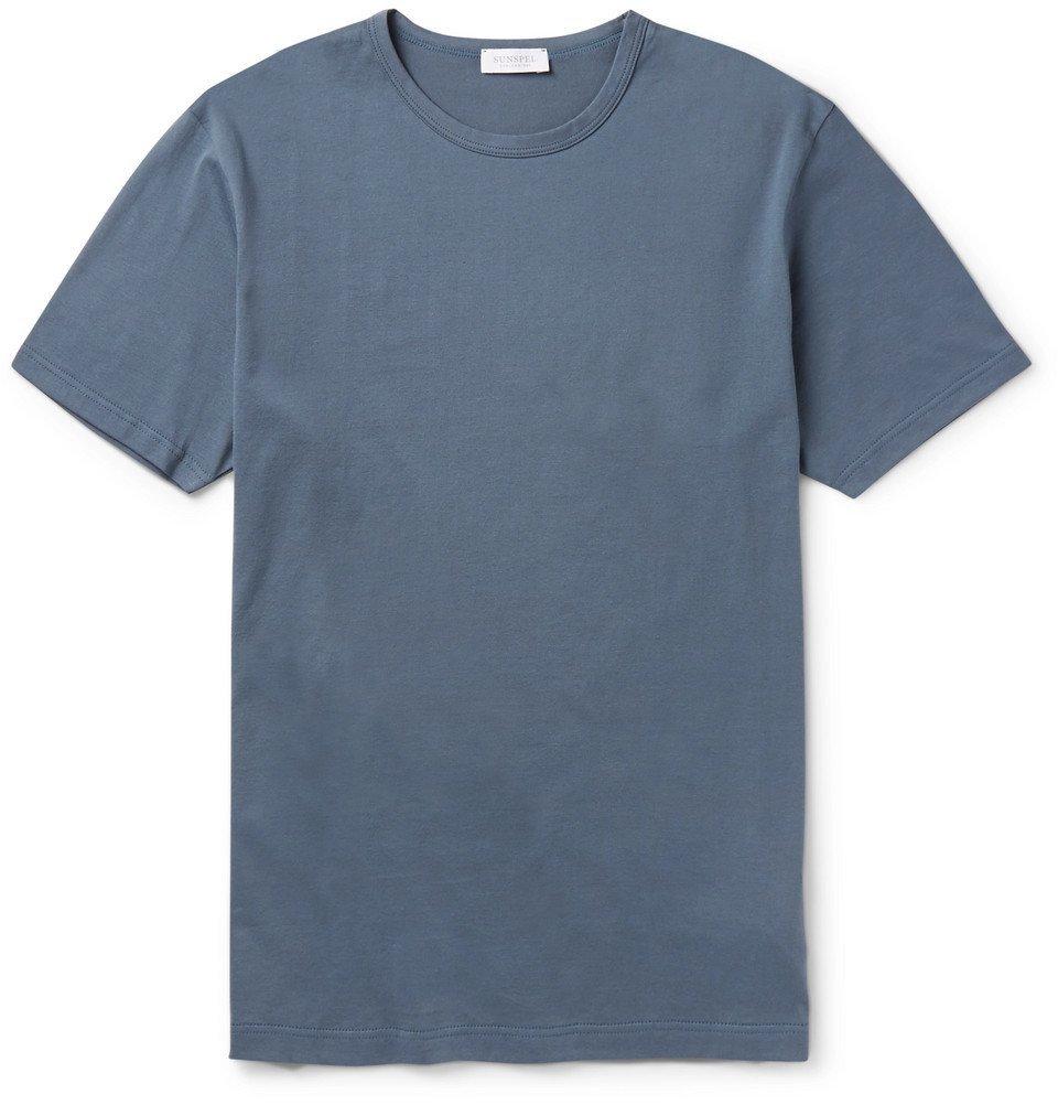Sunspel - Slim-Fit Cotton-Jersey T-Shirt - Men - Storm blue