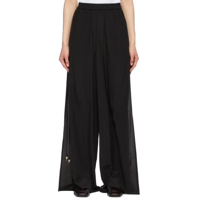 Photo: Max Mara Black Silk Boheme Trousers