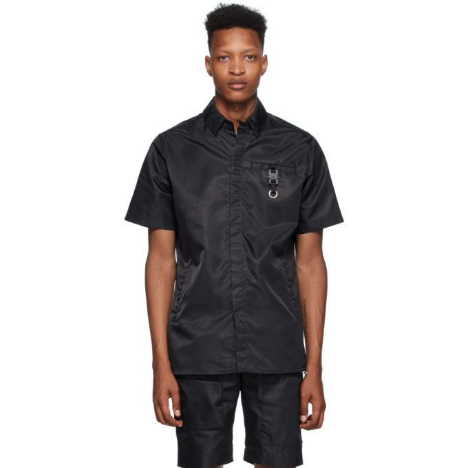 Photo: 1017 ALYX 9SM Black Buckle Short Sleeve Shirt