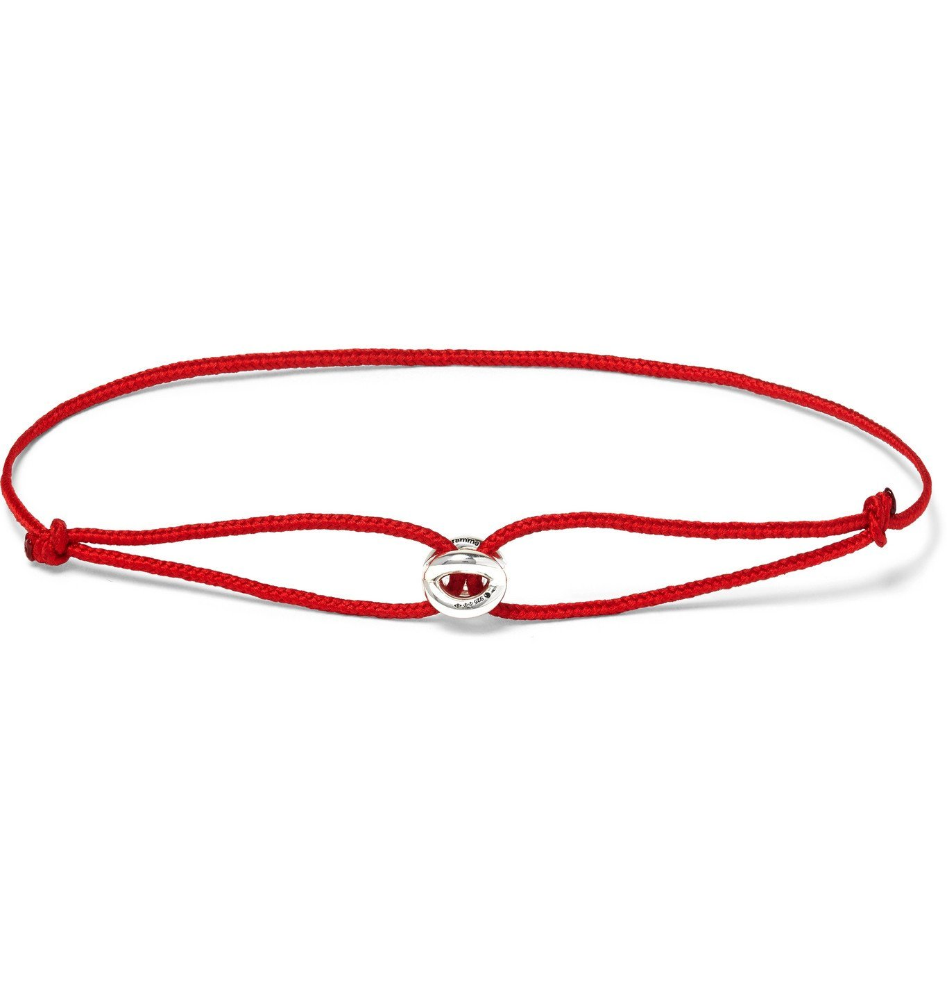 Photo: Le Gramme - Sterling Silver Cord Bracelet - Red