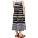 3.1 Phillip Lim Blue Silk Multi Stripe Skirt