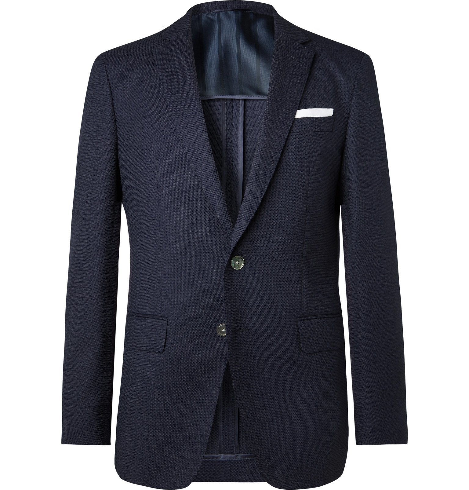 Photo: Hugo Boss - Navy Hartley Virgin Wool Blazer - Blue
