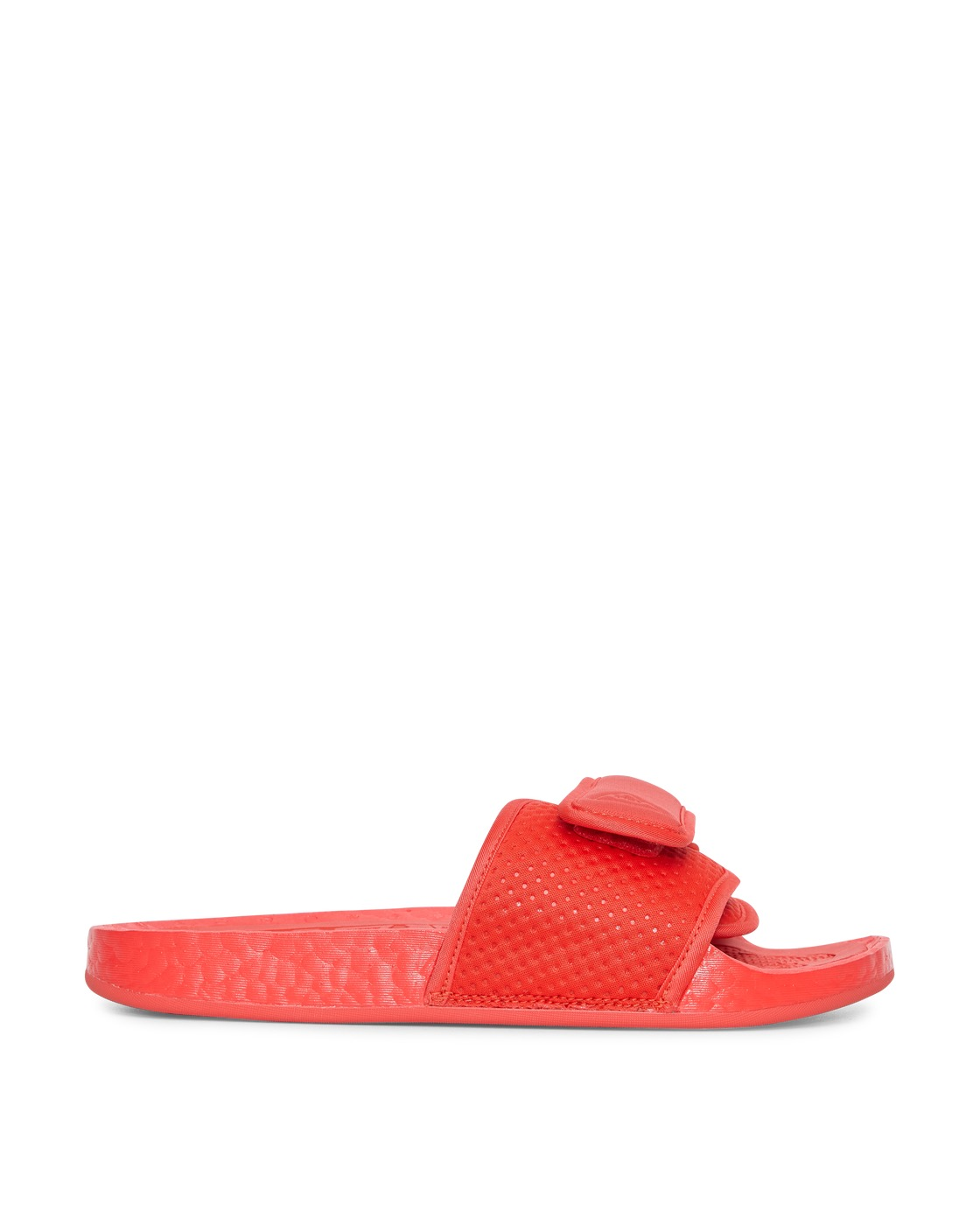 Photo: Adidas Originals Pharrell Williams Boost Slides Active Red/Active Red
