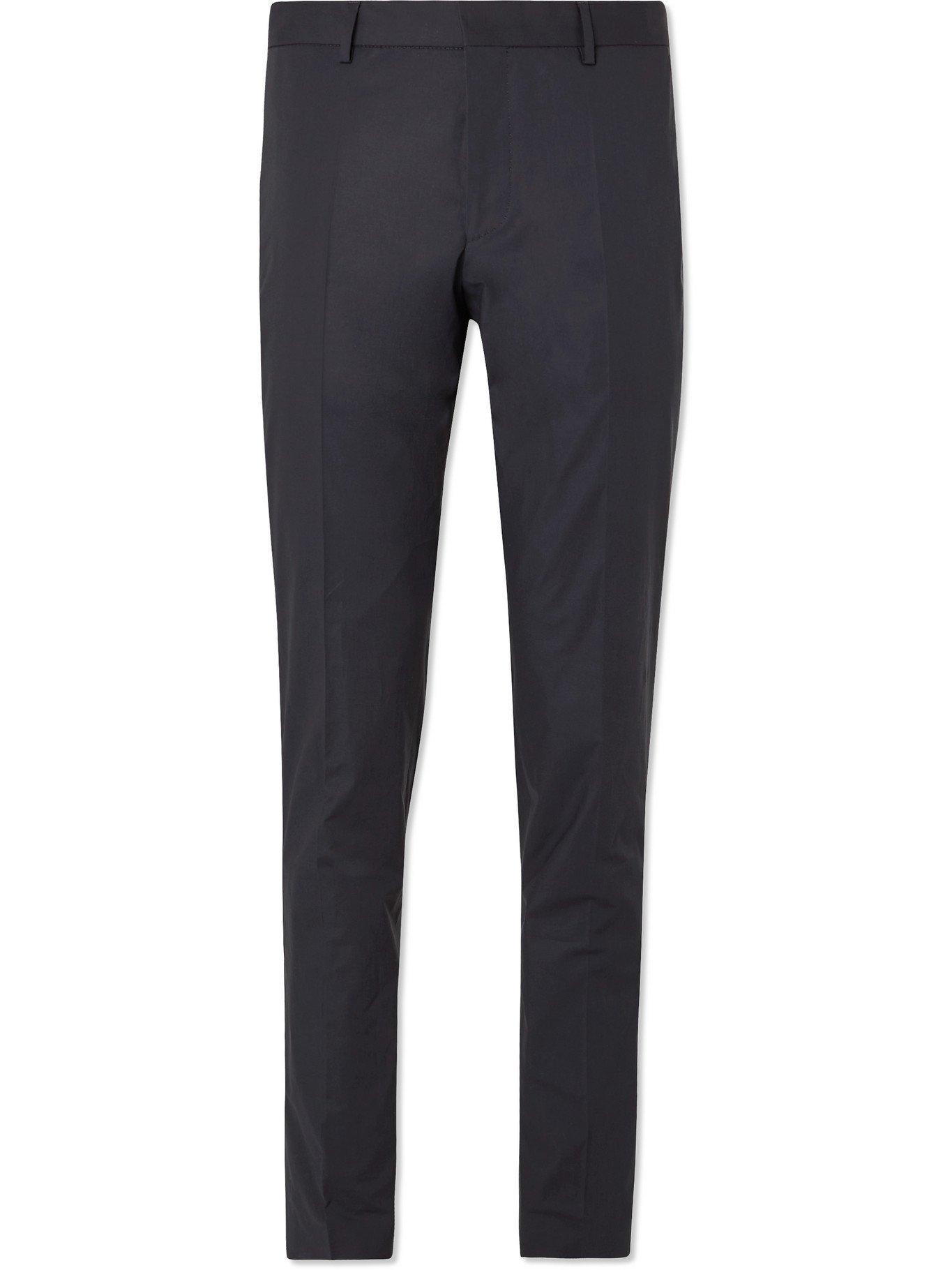 HUGO BOSS - Slim-Fit Stretch-Cotton Suit Trousers - Blue