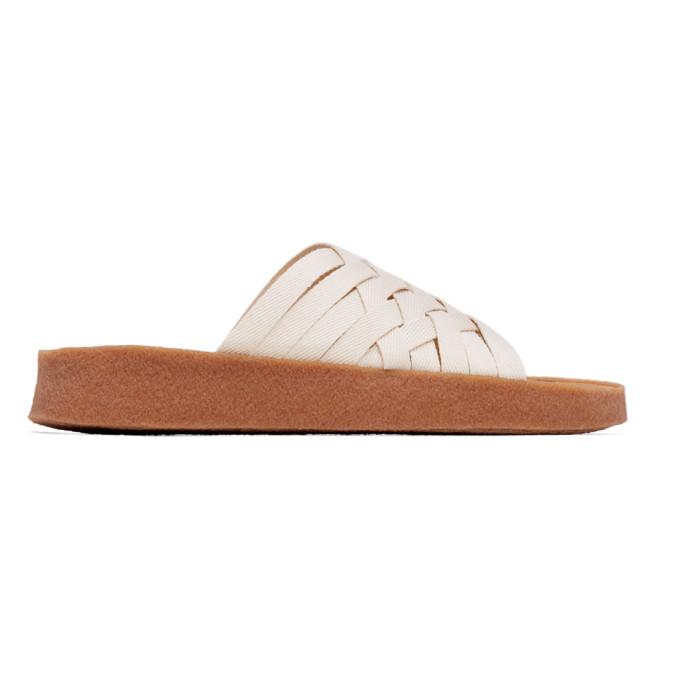 Photo: Malibu Sandals Off-White and Tan Hemp Zuma Sandals
