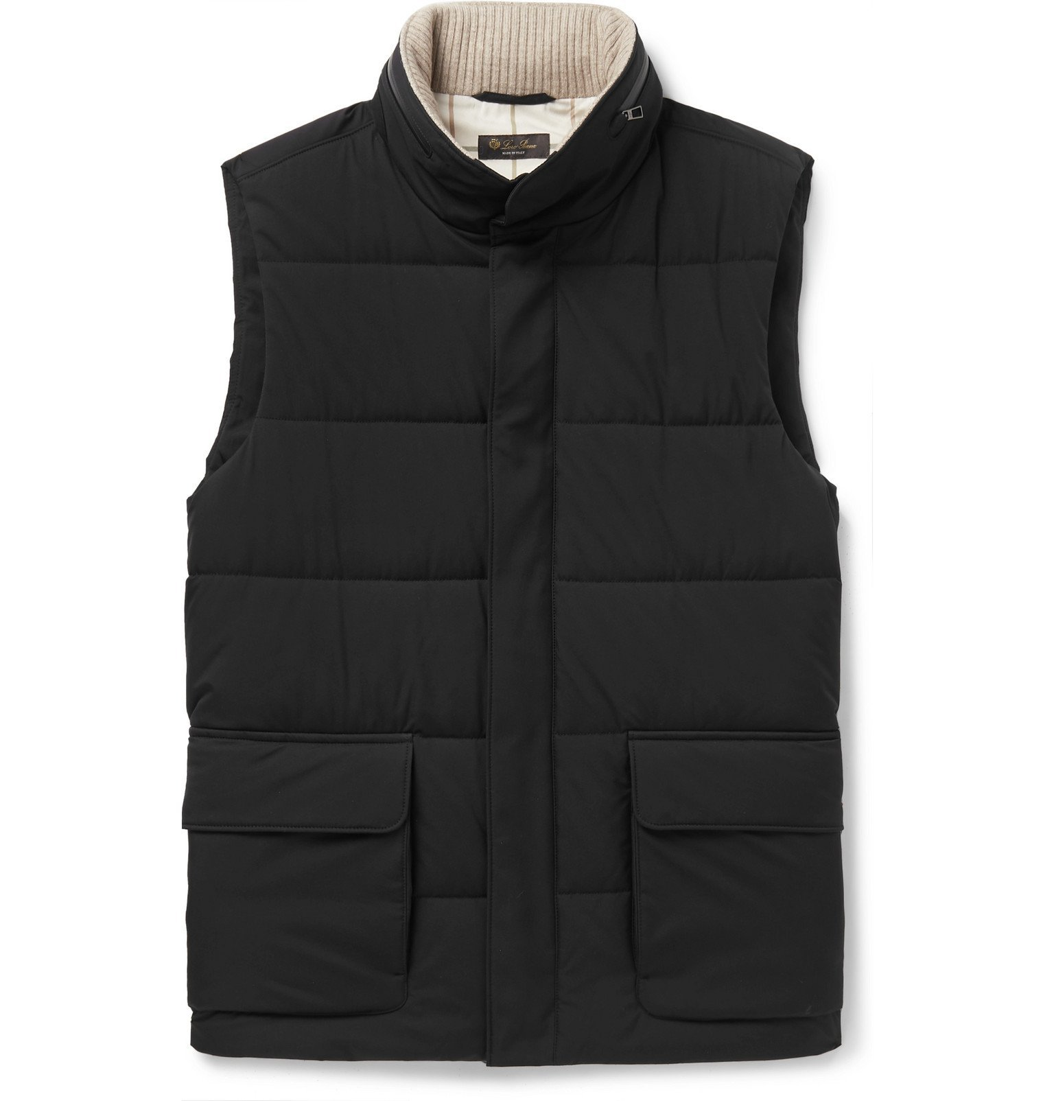 Photo: Loro Piana - Storm System Quilted Shell Hooded Gilet - Black