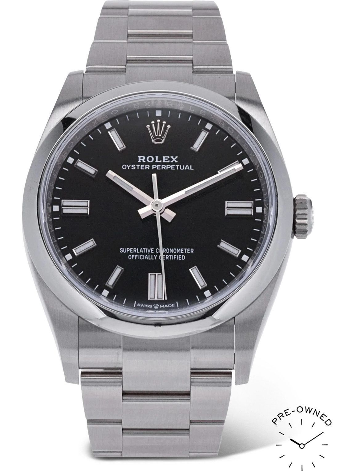 Photo: ROLEX - Pre-Owned 2021 Oyster Perpetual Automatic 36mm Oystersteel Watch, Ref. No. 126000