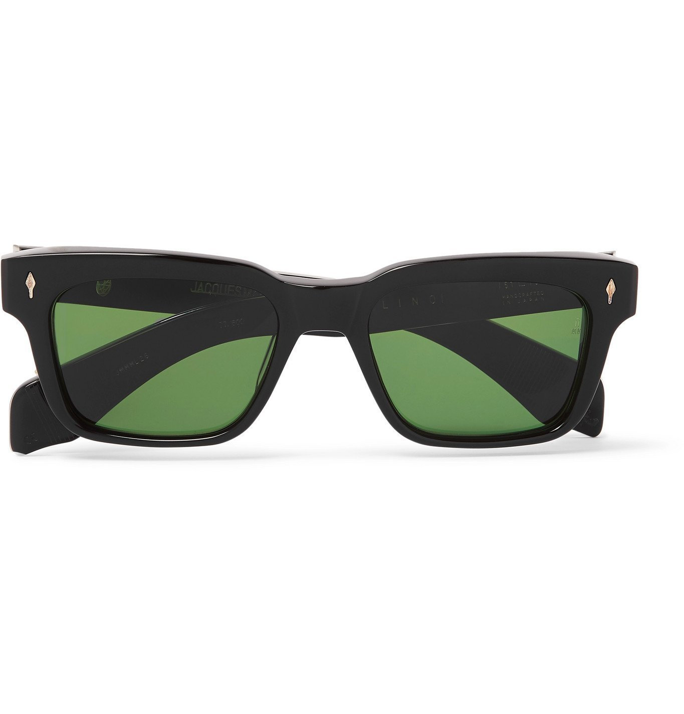 Photo: Jacques Marie Mage - Square-Frame Acetate Sunglasses - Black