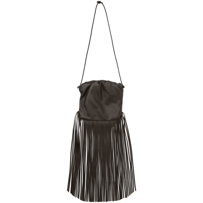Photo: Bottega Veneta Brown The Fringe Pouch Shoulder Bag