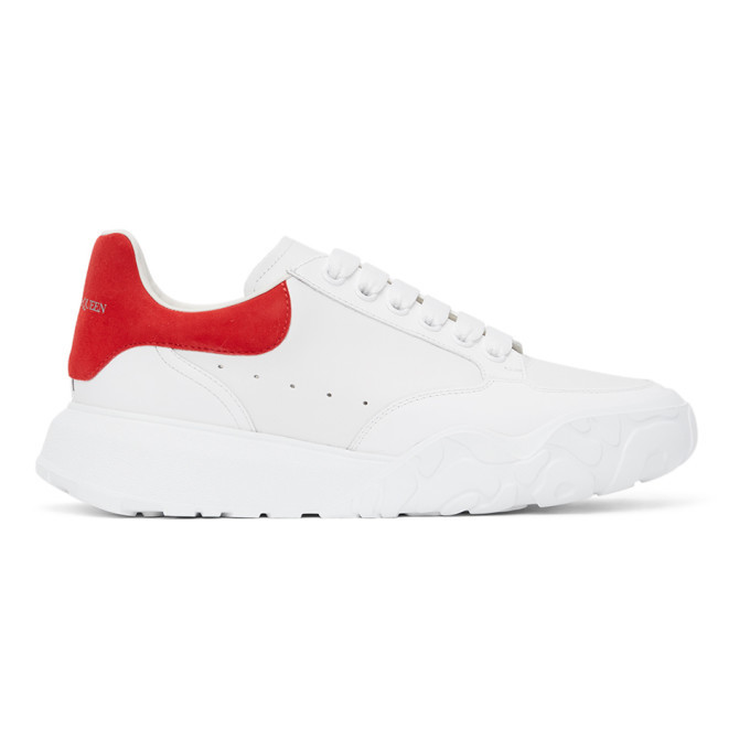 Photo: Alexander McQueen White and Red Court Trainer Sneakers