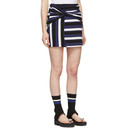 3.1 Phillip Lim Navy Striped Wrap Fitted Miniskirt