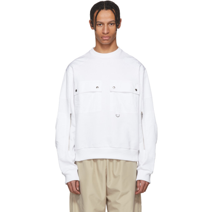 GmbH White Ryane Pocket Sweater