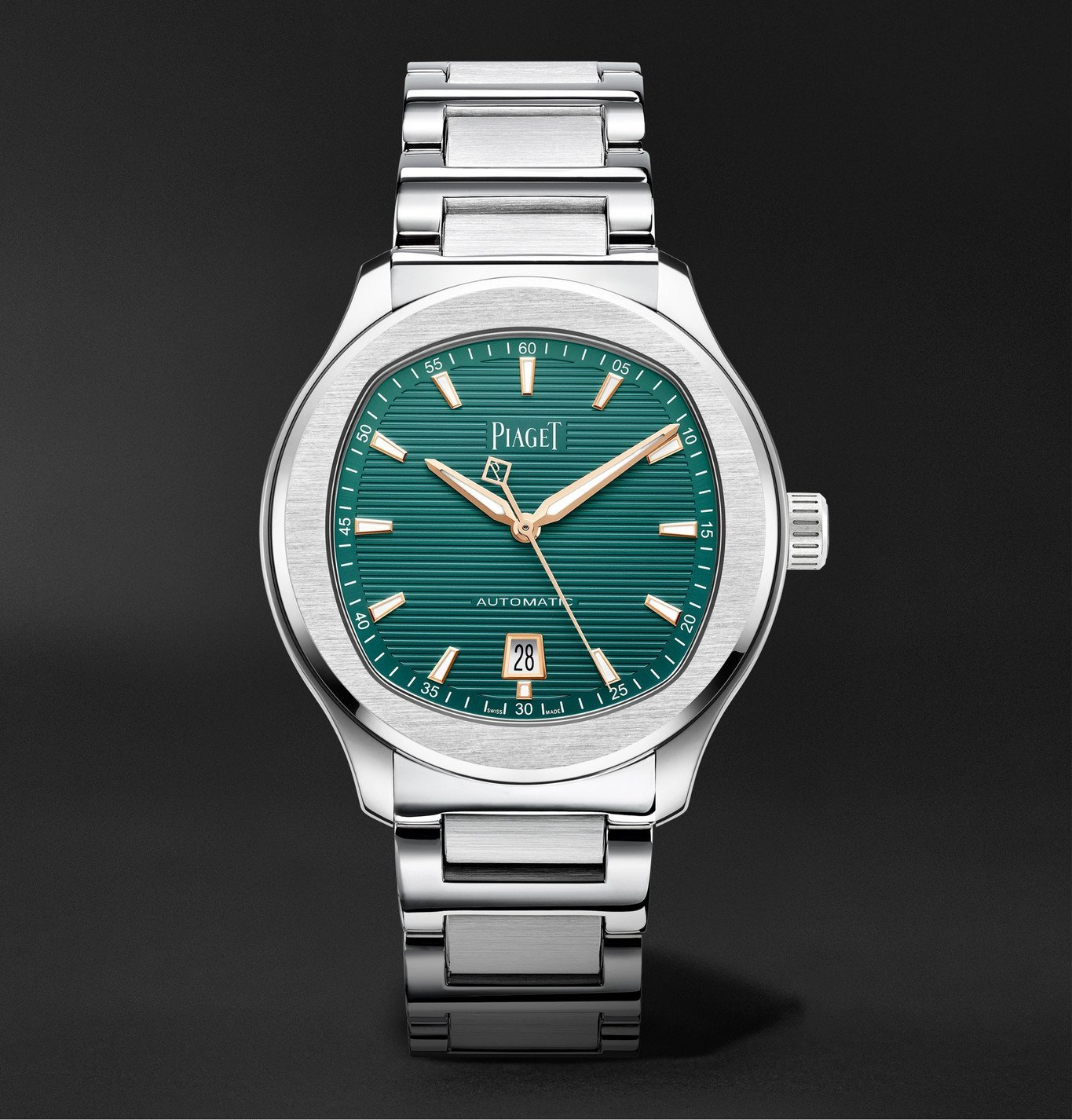 Photo: Piaget - Polo Automatic 42mm Stainless Steel Watch, Ref. No. PGG0A45005 - Green