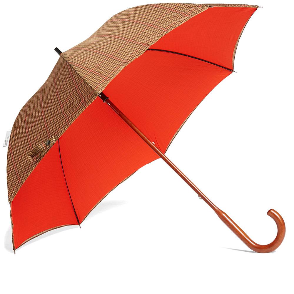 Photo: London Undercover Classic Umbrella Gun Check Bright Orange