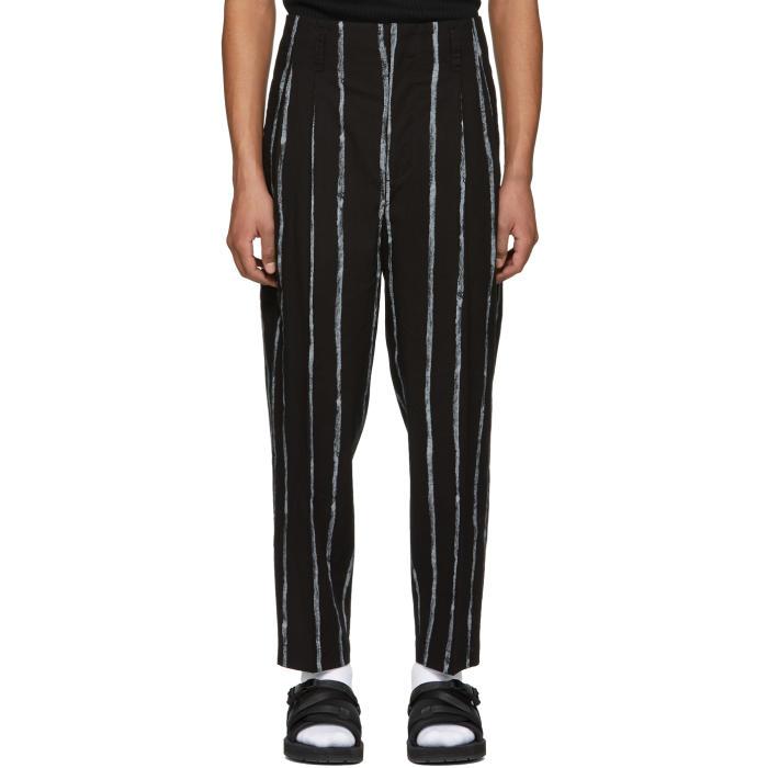 3.1 Phillip Lim Black Painted Stripes Trousers