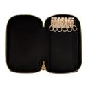Smythson Black Panama Zip-Around Key Holder