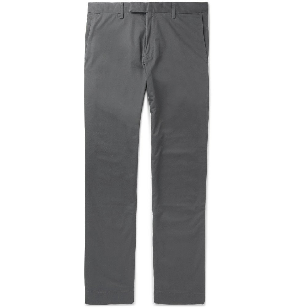 Photo: Polo Ralph Lauren - Slim-Fit Stretch-Cotton Chinos - Men - Gray