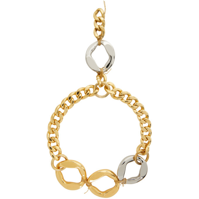 Sacai Gold and Silver Chain Necklace