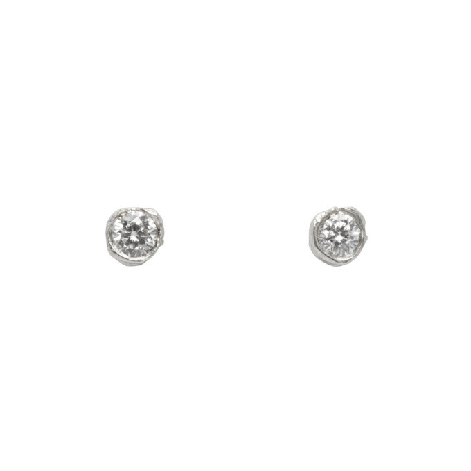 Photo: Pearls Before Swine Silver Mini Diamond Stud Earrings
