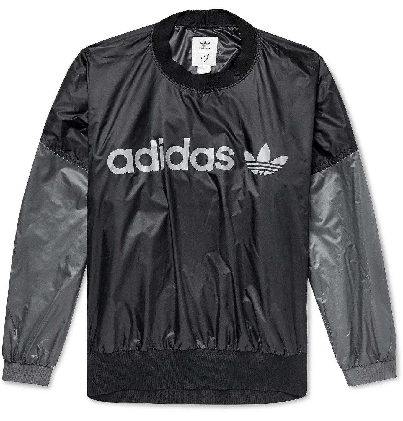 Photo: adidas Consortium - Human Made Logo-Print Colour-Block Shell Sweatshirt - Black