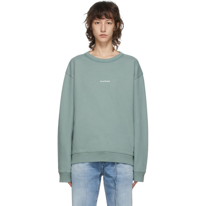 Photo: Acne Studios Green Logo Print Sweatshirt
