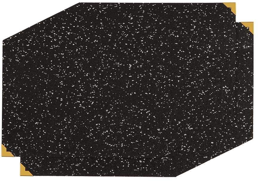 Slash Objects Black Polygon Placement Mat Set