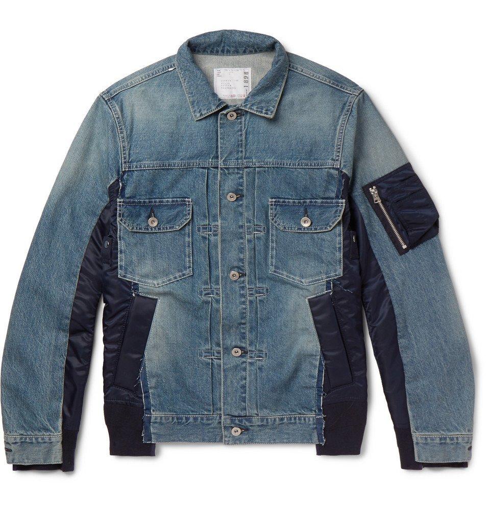 Photo: Sacai - Shell-Panelled Denim Jacket - Blue