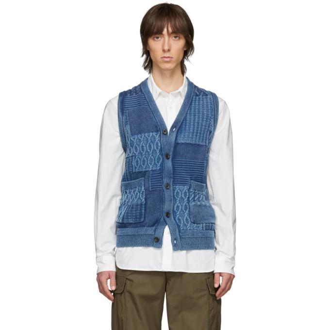 Photo: Beams Plus Blue Cable Knit Vest