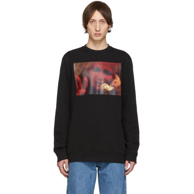 Raf Simons Black Mother On Phone Sweatshirt